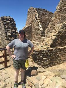 Dr. Megan McCullen at Chaco Canyon World Heritage Site