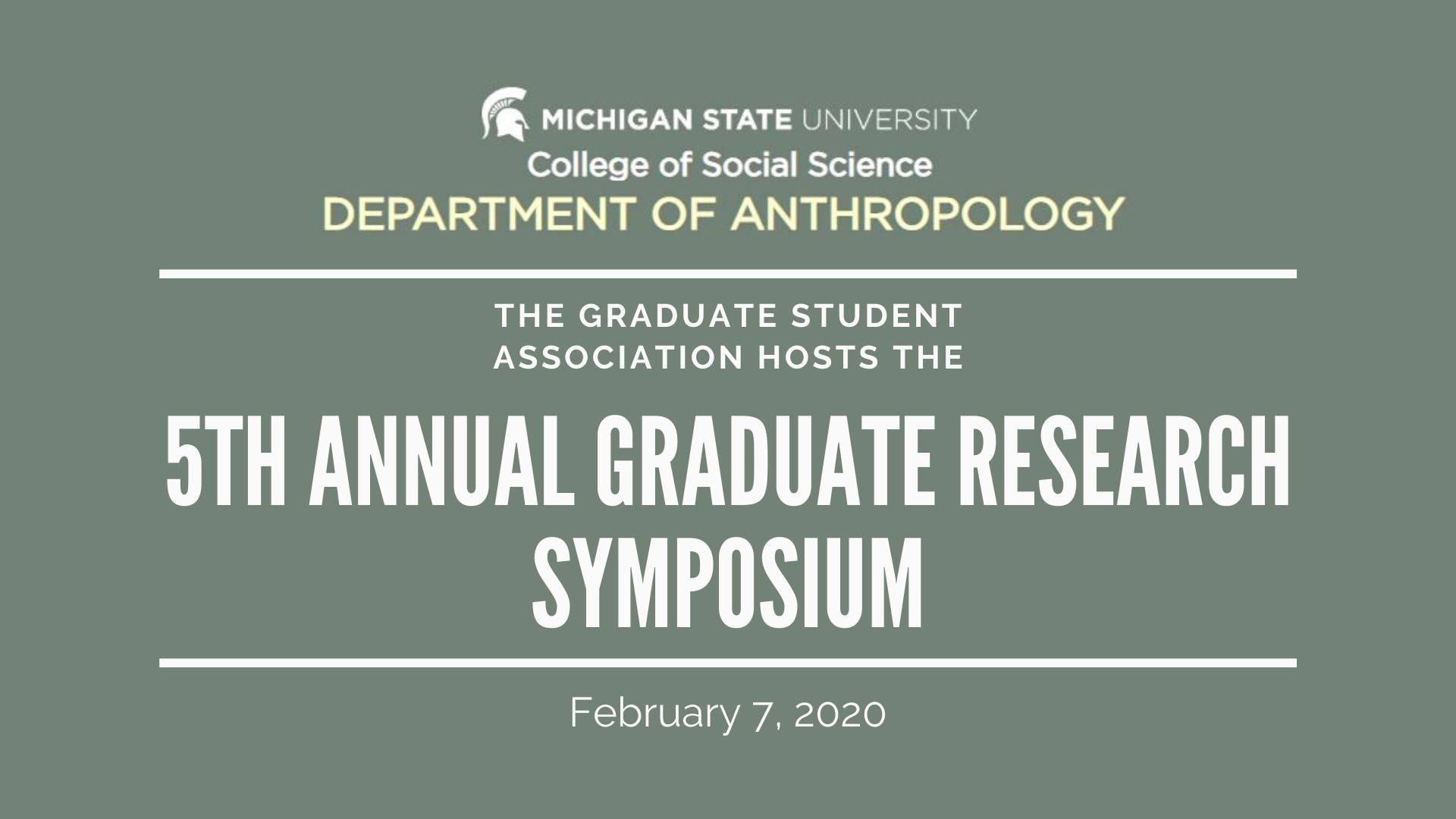 GSA Research Symposium 2020