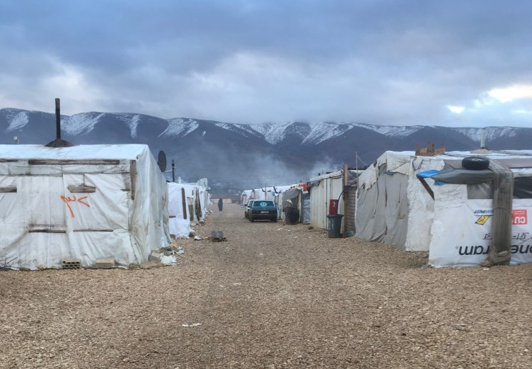 Photo of Syrian Refugee Settlement in Lebanon by Marwa Bakabas