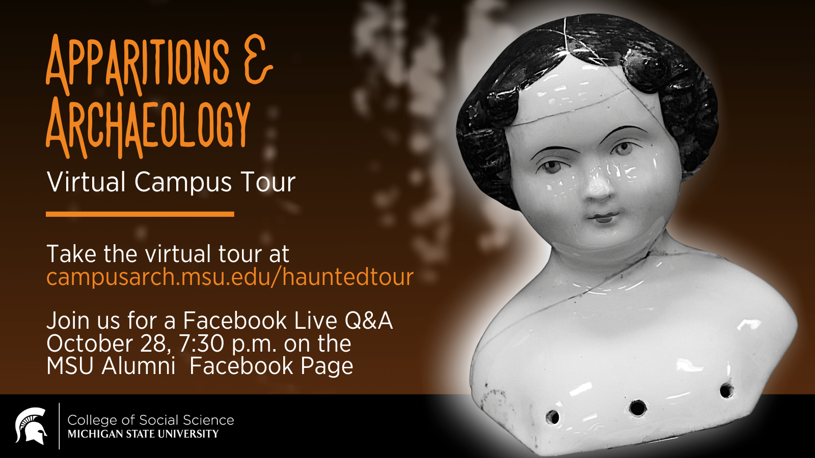 Flyer for the Apparitions and Archaeology tour