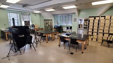 Photo of the bioarchaeology lab