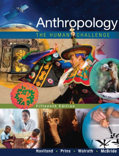 Anthropology the human challenge book cover