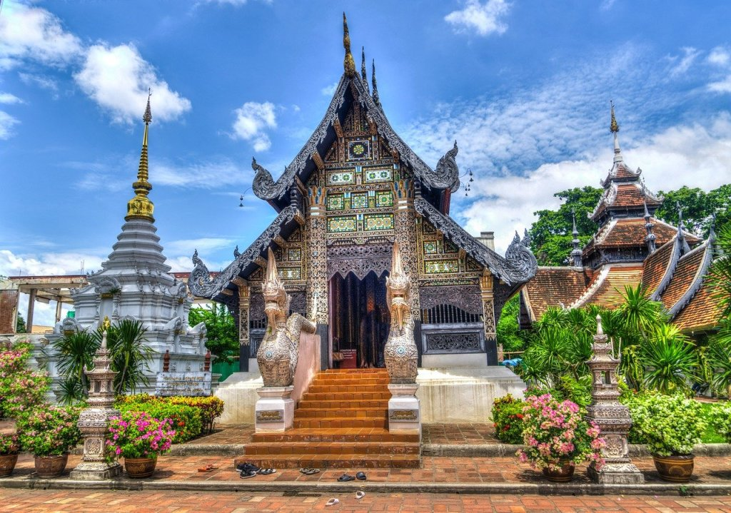 Anthropology articles. Temple in Thailand