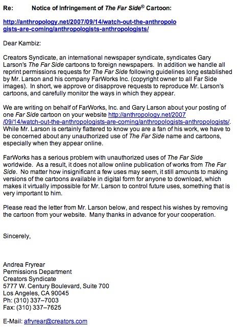 Gary Larson's Take Down Email