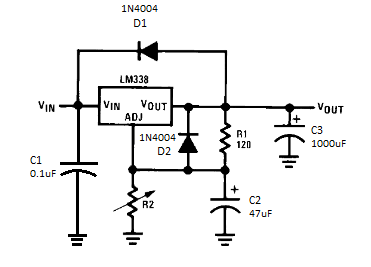 Build a 5 amp portable power supply with an LM338 regulator.