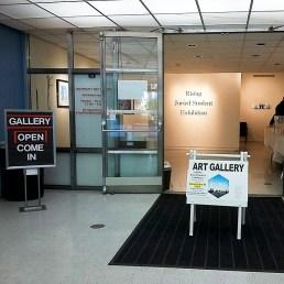 CSUEB Art Gallery entrance.
