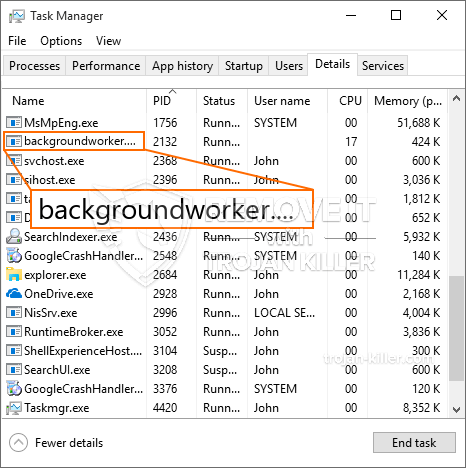 remove Backgroundworker.exe