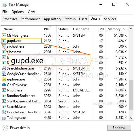 remove Gupd.exe