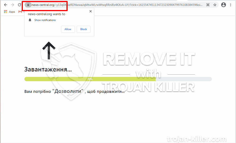 remove News-central.org
