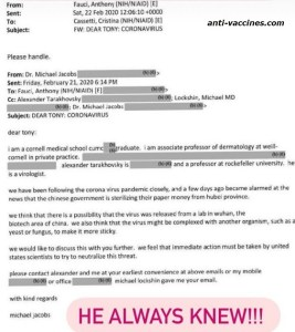 fauci-email-hubei-province-lab-leak-coronavirus-email-early-pandemic-fauci-knew-informed-information-doctor-jacobs