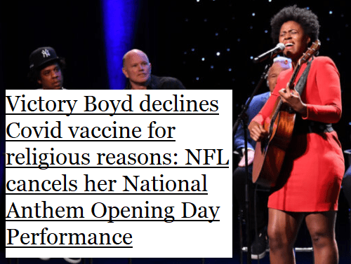 nfl,mandatory,vaccination,fully,vaccinated,decline,vaccine,religious,reasons,exemption,cancel culture,