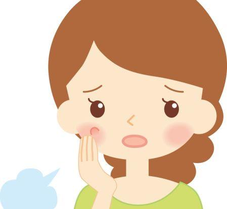 脂漏性角化症のシミに悩む女性のイラスト