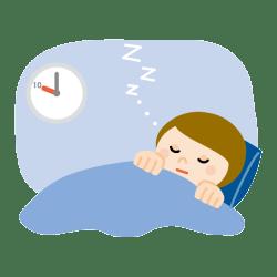 熟睡して寝ている人