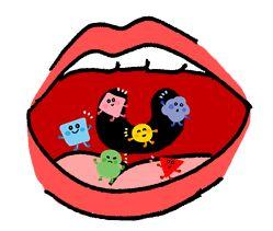 口内フローラのイメージ図