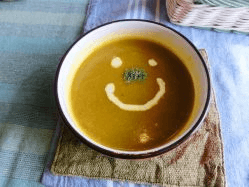 カボチャスープの写真