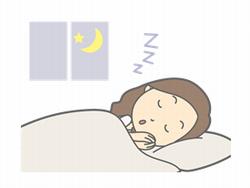 寝ている女性のイラスト