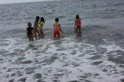 Black sand beach. Hana. Maui. Hawaii