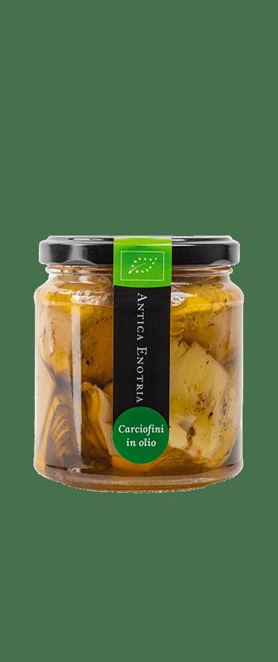 Carciofini in olio extravergine d'oliva biologici antica enotria