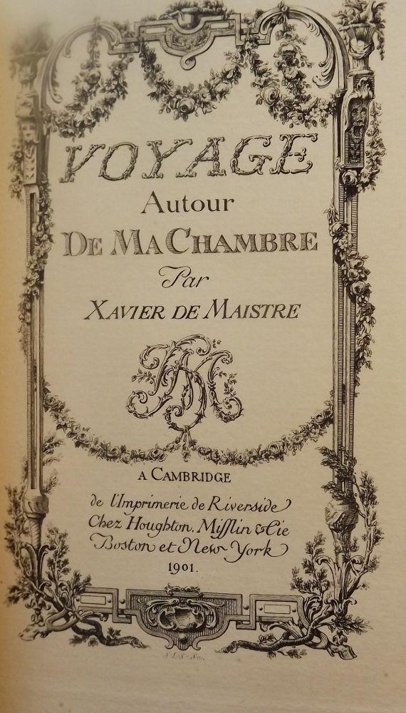 Voyage Autour De Ma Chambre : voyage, autour, chambre, VOYAGE, AUTOUR, CHAMBRE, Xavier, MAISTRE