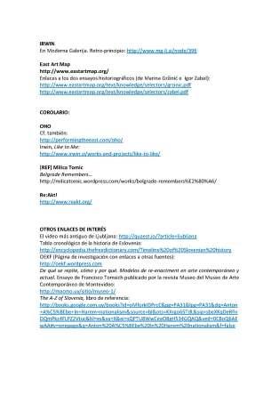 Historias del arte de Eslovenia. Modelos de actuación recientes. Conferencia de Francisco Tomsich, MNAV, Montevideo, 26 de julio de 2014_Página_4