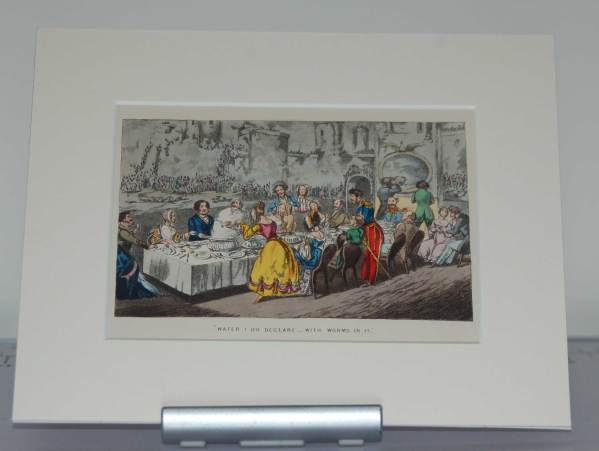 """1874 Henry Alken Hand Coloured Print """"What do I declare .. with Worms in it"""""""