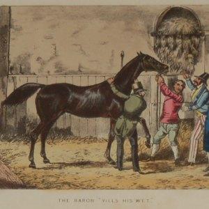 1874 Henry Alken Print Mr Baron Vills His Wet,