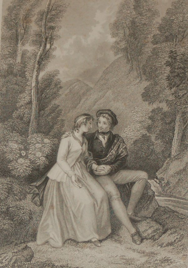 Duet 1840 engraving scotland antique