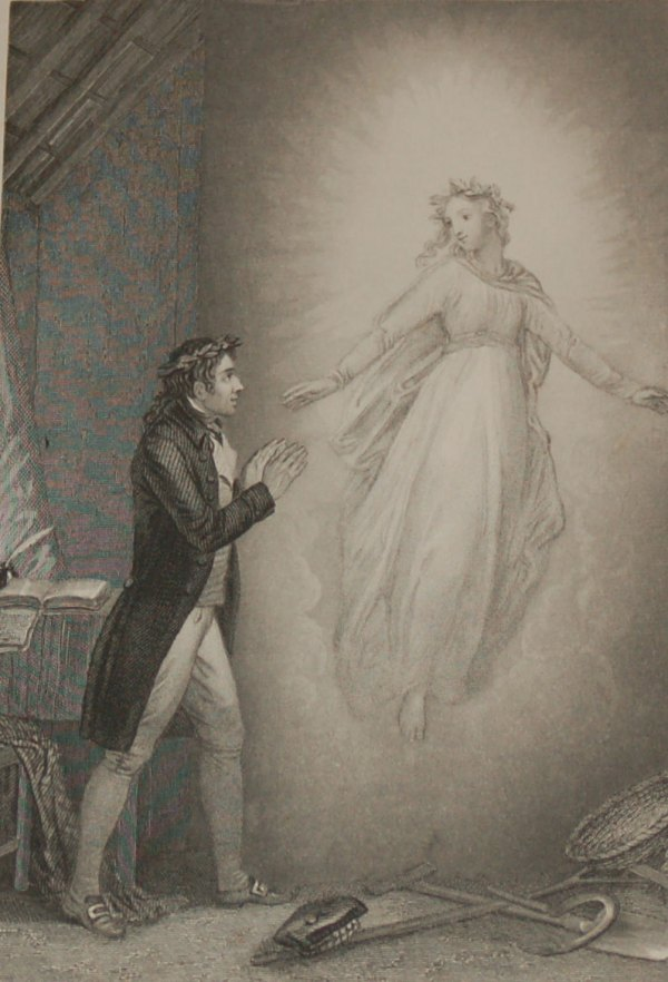 The Vision 1840 Antique Steel Engraving