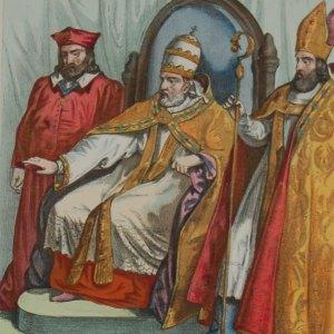 1848 antique print, Florence, Religious theme