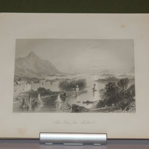 1860 antique print Clew Bay from Westport