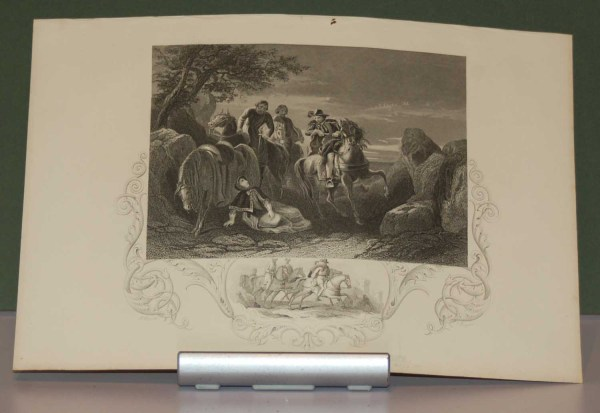 1854 engraving flight of the earl of tyrone