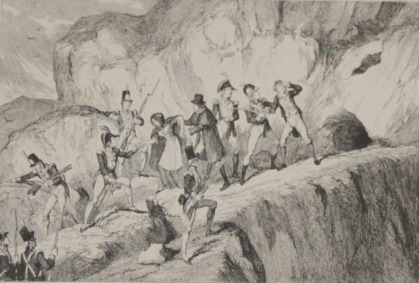 capture of colclough and harvey, saltee islands, 1864 print