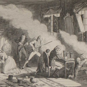 1864 print after George Cruikshank, Irish Rebellion