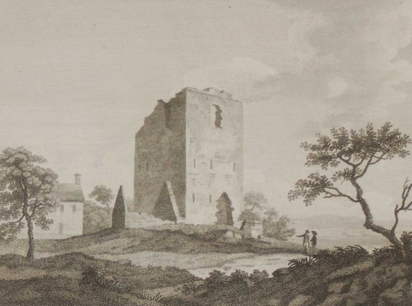 1797 copperplate engraving of Ballaghmore Castle in Laois