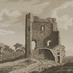 1797 antique print a copperplate engraving of Cullum Castle in County Limerick, Ireland.
