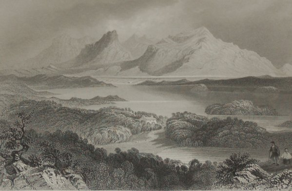 1860 engraving by J B Allen after a painting by William Bartlett , Garromin Connemara.