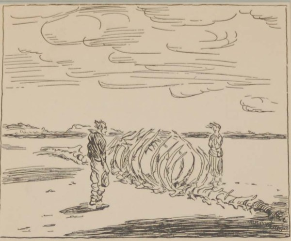 Jack B Yeats They Listened To The Music 1933 published by The Macmillan Company in New York.
