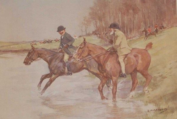 Vintage 1935 colour print by G D Armour ( George Denholm Armour 1864 to 1949), the print is titled Plate XIX- Discretion and Valour