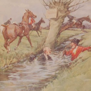Vintage 1935 colour print by G D Armour ( George Denholm Armour 1864 to 1949), titled Plate XI- Insult and Injury