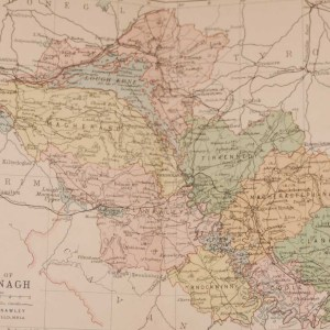 1881 Antique Colour Map of The County of Fermanagh printed by George Philips, with the map constructed by John Bartholomew and edited by P. W. Joyce.