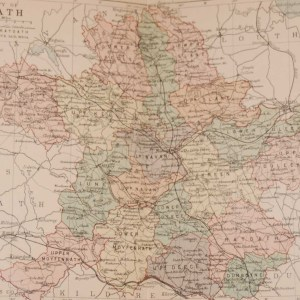 1881 Antique Colour Map of The County of Meath printed by George Philips, with the map constructed by John Bartholomew and edited by P. W. Joyce.