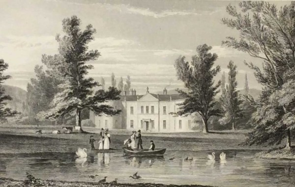 Terenue, County Dublin, the seat of Frederick Bourne Esq, 1832 Antique Print. The print was engraved by J Mc Hahey and is after a drawing by George Pertrie.