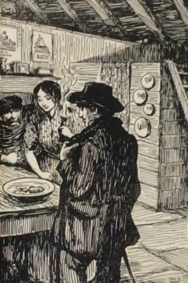 Jack B Yeats The Cuttle-Fish 1912 antique print.