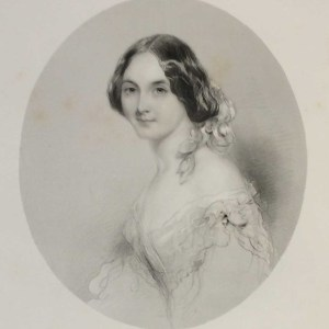 Lucy Bertram, antique print, Victorian, an engraving from circa 1880 after the original painting by John Hayter.