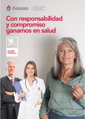 """carte de la campaña """"Con responsabilidad y compromiso ganamos en salud"""""""