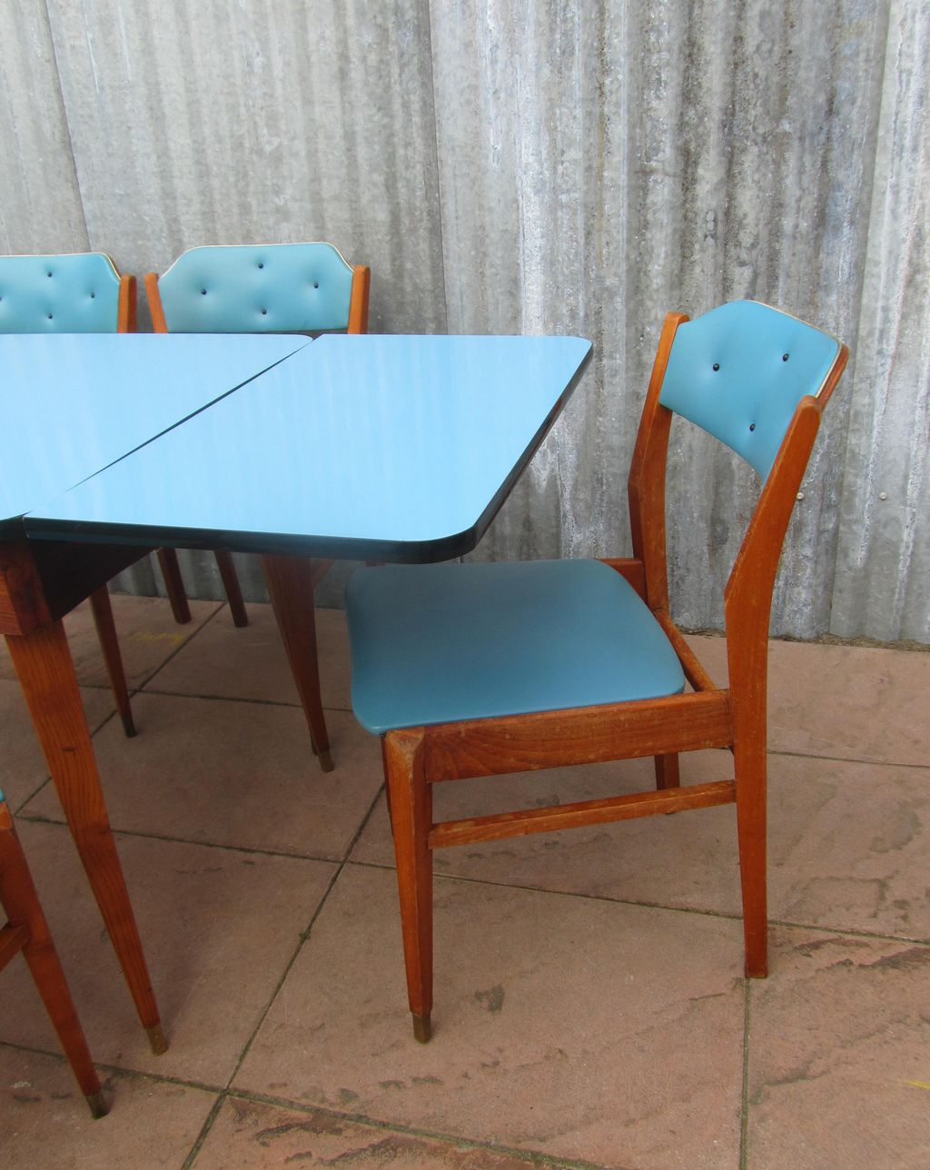 50s Table And Chairs 50s 60s Mid Century Dining Set 6 Chairs And Extendable