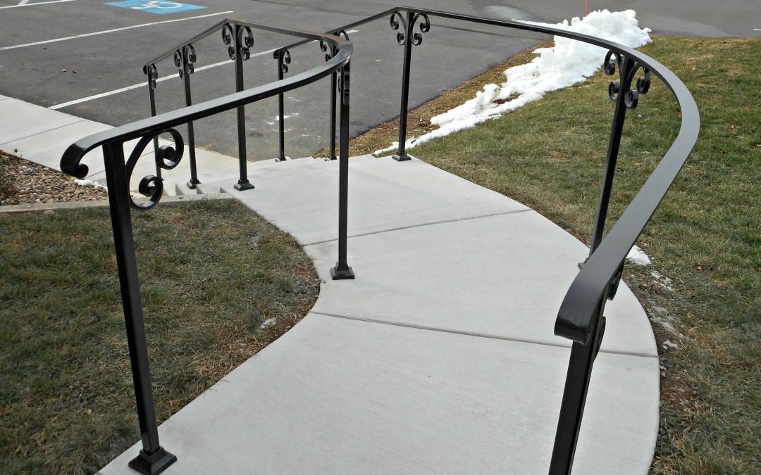 Exterior Metal Stair Railings. outside stair railing