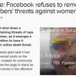 Feminists angry Facebook won't remove blokes advice page