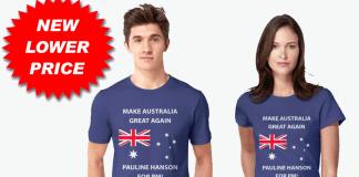 Pauline Hanson for PM T-Shirts