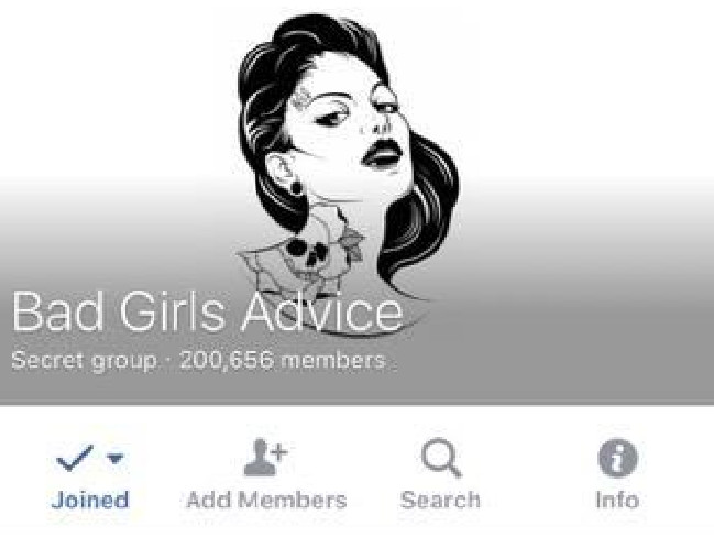 Bad girls advice group removed